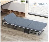 Giường gấp ba khúc vải nhung NKT-N935